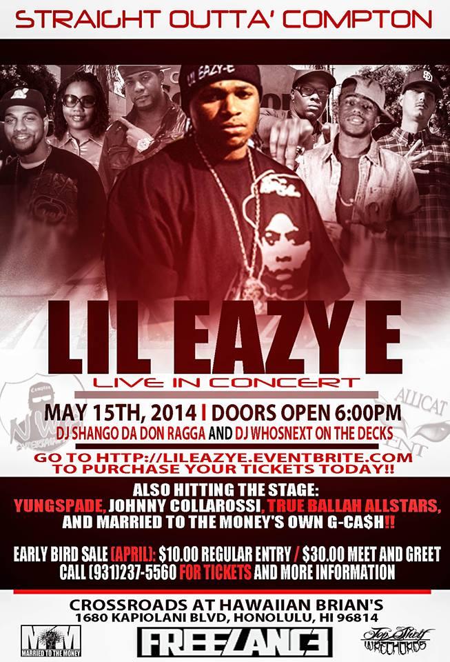 Lil Eazy E concert flyer